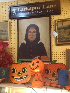 She is nicely done, is not a bit somber. But hey, it's almost Halloween!!! Larkspur  Lane Antiques & Collectibles, booth KDM.